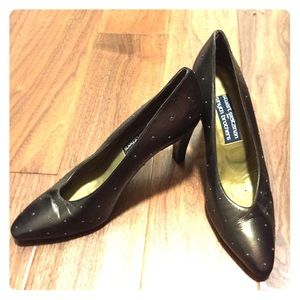 Golden Brown Stuart Weitzman Vintage Pumps